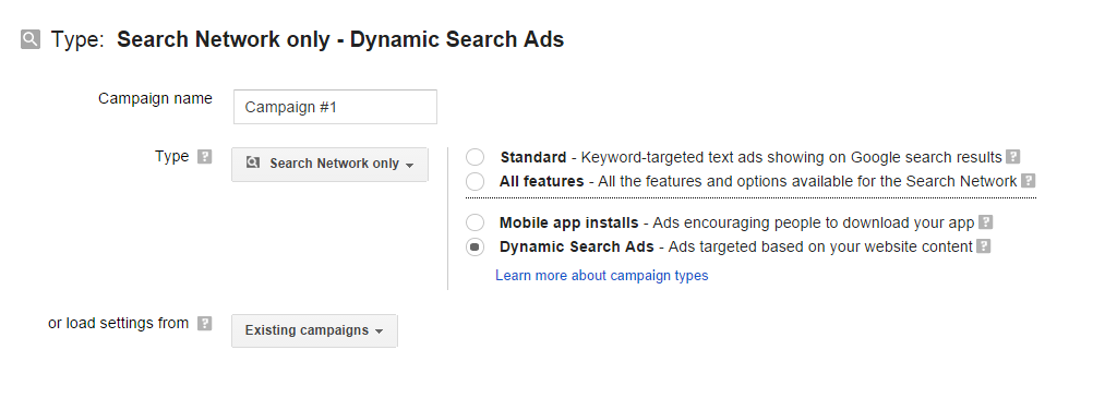 Dynamic Search Ads 1