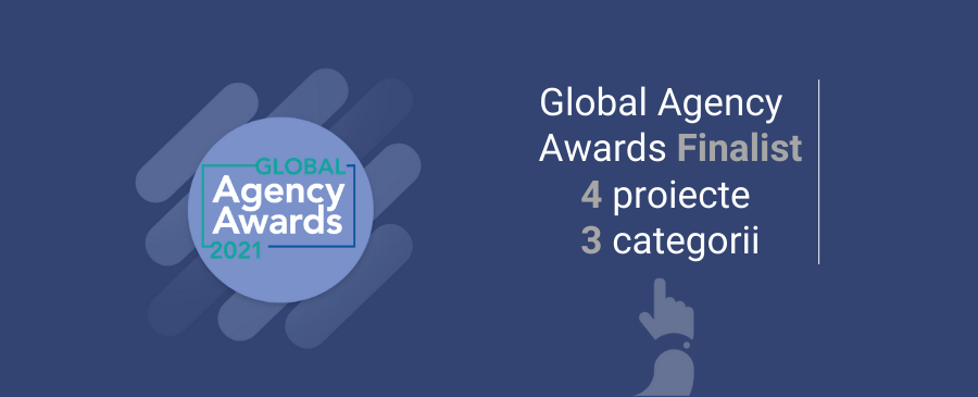Echipa WebDigital - finalista la Global Agency Awards 2021 cu 4 proiecte la 3 categorii